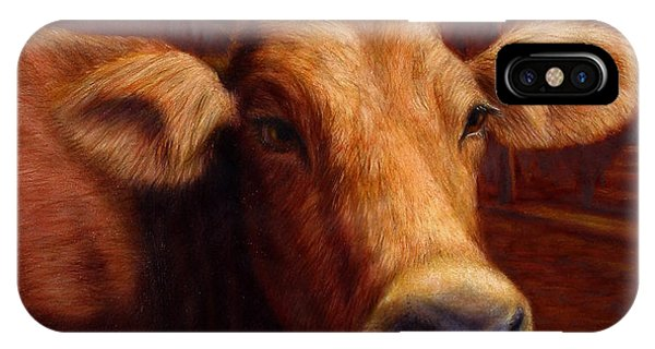 Cow iPhone X / XS Case - Mrs. O'leary's Cow by James W Johnson