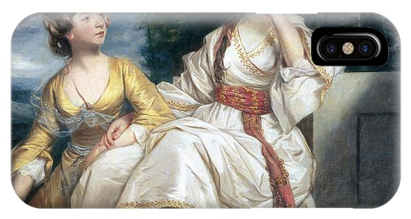 Deep Thought iPhone Case - Mrs Thrale And Her Daughter Hester by Sir Joshua Reynolds