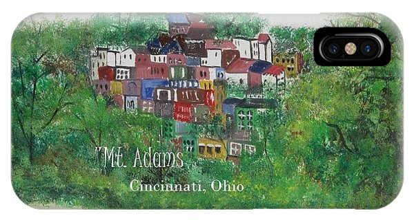 Mt Adams Cincinnati Ohio With Title IPhone Case