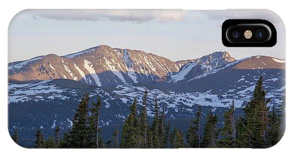 Indian Peaks Wilderness iPhone Case - Mt. Audubon And Paiute Peak by Aaron Spong
