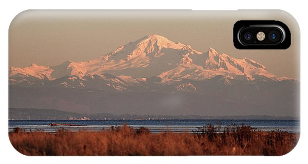 IPhone Case featuring the photograph Mt Baker At Sunset by Pierre Leclerc Photography
