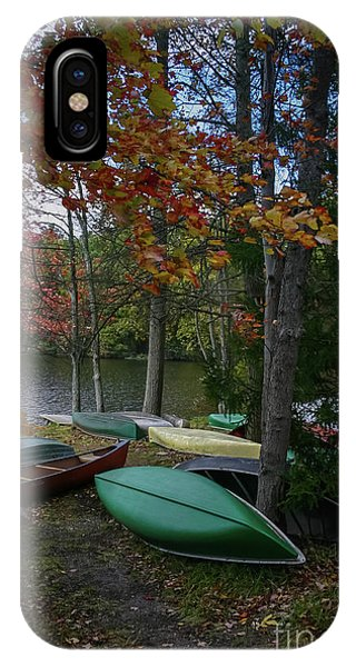 Mt. Gretna Canoes In Fall IPhone Case