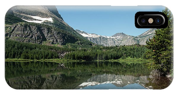 Mt. Grinnell Across Red Rock Lake Glacier National Park IPhone Case
