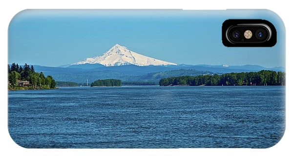 Mt. Hood Above The Columbia River IPhone Case