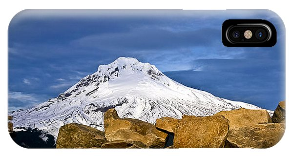 Mt Hood With Talus IPhone Case