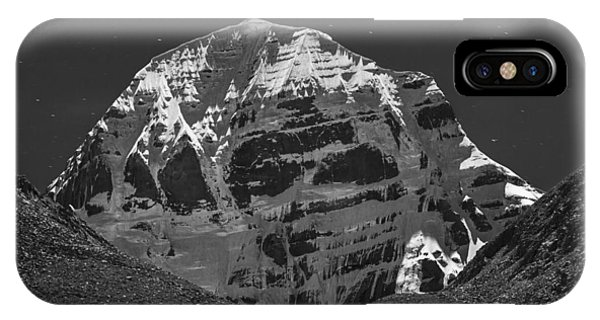 Mt. Kailash In Moonlight, Dirapuk, 2011 IPhone Case