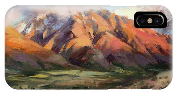 Country Landscape iPhone Case - Mt Nebo Range by Steve Henderson