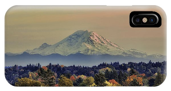 Mt Rainer Fall Color Rising IPhone Case