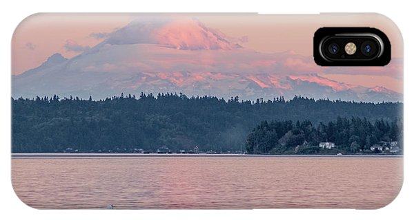 Mt. Rainier At Sunset IPhone Case