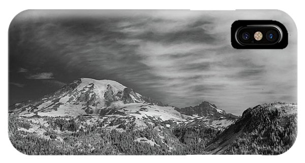 IPhone Case featuring the photograph Mt. Rainier by Bob Cournoyer