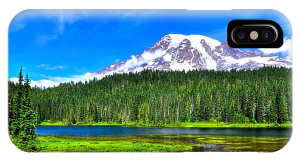 Mt. Rainier From Reflection Lakes IPhone Case