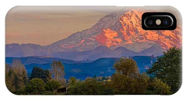 Mt Rainier In The Fall IPhone Case