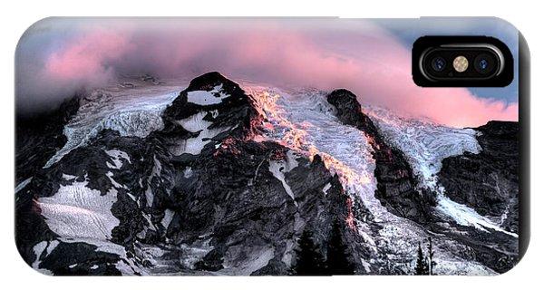 Mt Rainier Sunrise Fine Art Photograph IPhone Case