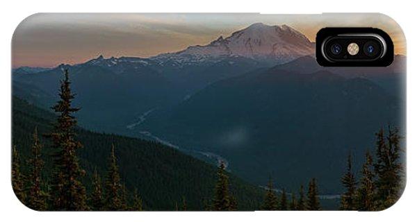Mt Rainier Sunset Glow IPhone Case