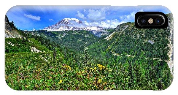Mt. Rainier Through The Clouds  IPhone Case