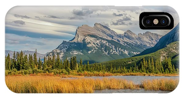 IPhone Case featuring the photograph Mt. Rundle 2009 05 by Jim Dollar