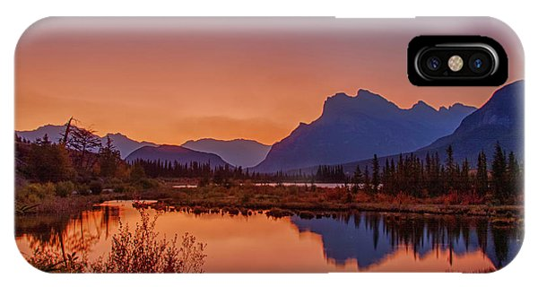 IPhone Case featuring the photograph Mt. Rundle 2009 11 by Jim Dollar