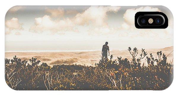 Explorer iPhone Case - Mt Zeehan Backpacker  by Jorgo Photography - Wall Art Gallery