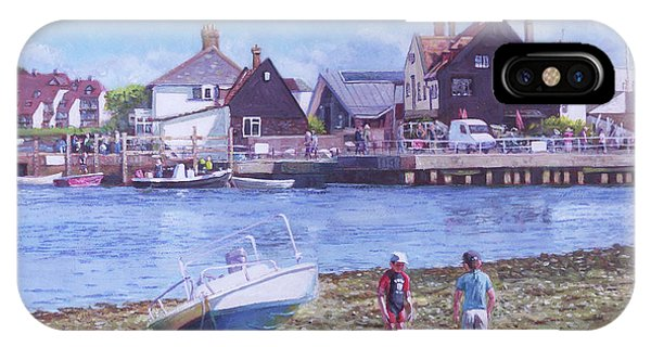 Mudeford Quay Christchurch From Hengistbury Head IPhone Case