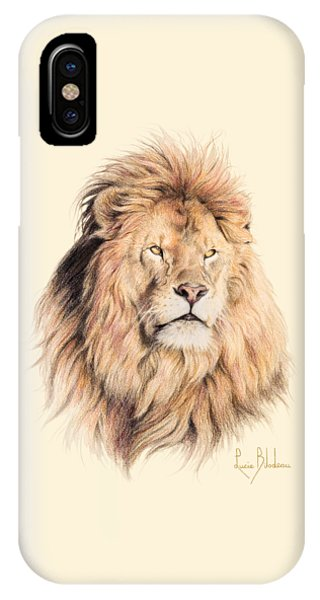 Lions iPhone Case - Mufasa by Lucie Bilodeau