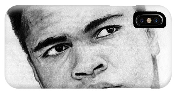 Muhammad Ali Pencil Drawing IPhone Case
