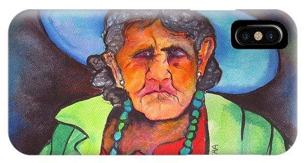IPhone Case featuring the painting Mujer De Jocotepic  by Karen bertha Calderon