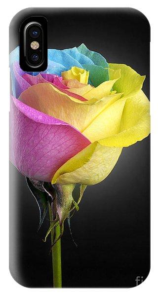 iPhone Case - Rainbow Rose 1 by Tony Cordoza
