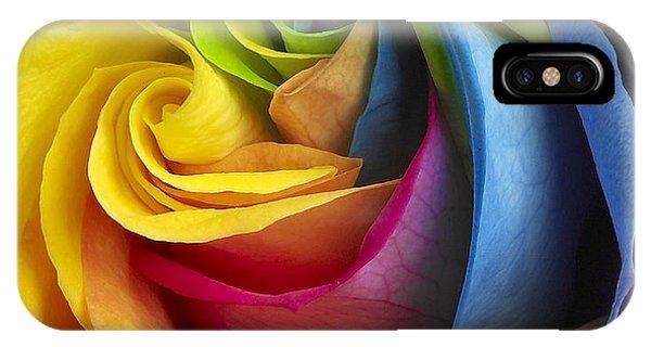 iPhone Case - Rainbow Rose by Tony Cordoza