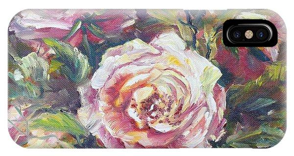 Multi-hue And Petal Rose. IPhone Case