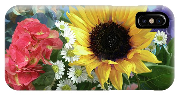Daisy iPhone Case - Multicolor Flowers by Lucie Bilodeau
