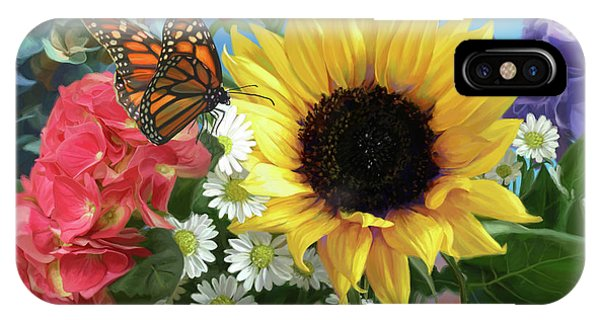 Monarch iPhone Case - Multicolor With Monarch by Lucie Bilodeau