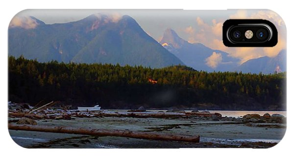 Multileval Photography In One Land Water Trees Mountain Clouds Skyview Olympic National Park America IPhone Case