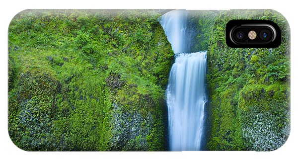 IPhone Case featuring the photograph Multnomah Falls by Don and Bonnie Fink