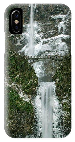 Multnomah Falls Ice IPhone Case