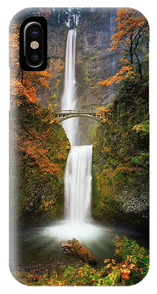 Multnomah Falls In Autumn Colors IPhone Case
