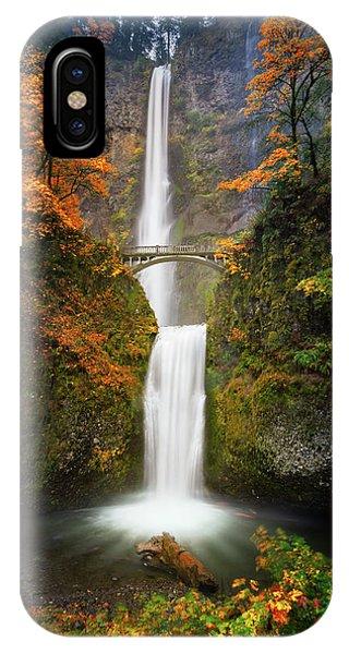 Multnomah Falls In Autumn Colors IPhone Case
