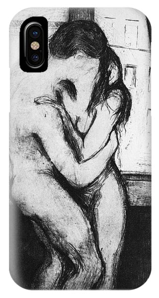 Munch The Kiss, 1895 - To License For Professional Use Visit Granger.com IPhone Case