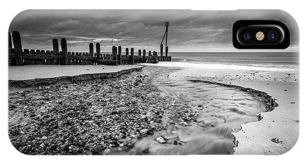 Mundesley Beach - Mono IPhone Case
