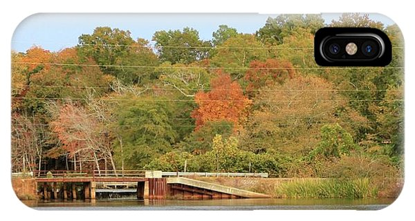Murphy Mill Dam/bridge IPhone Case