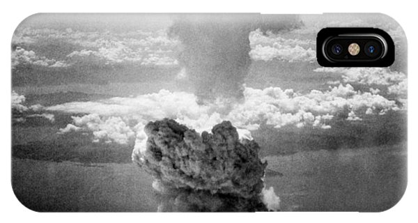 Atomic iPhone Case - Mushroom Cloud Over Nagasaki  by War Is Hell Store