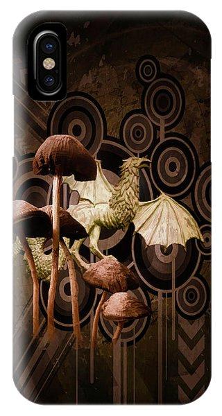 Mushroom Dragon IPhone Case