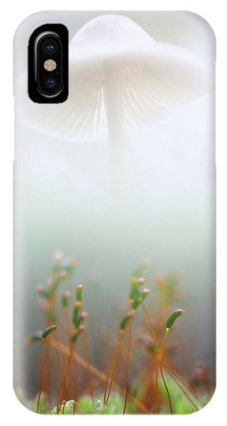 Mushroom Dreams, Mycena Galericulata IPhone Case