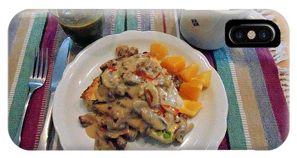 Mushroom Gravy Over Breakfast Quiche  IPhone Case