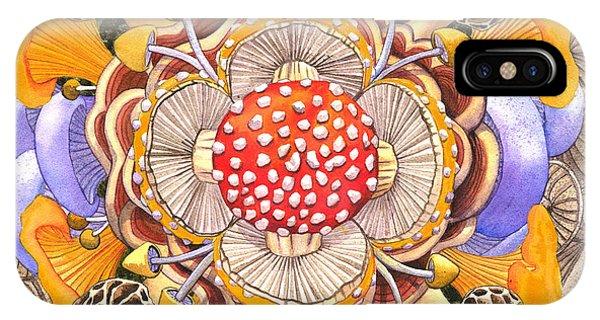 Mushroom Mandala IPhone Case