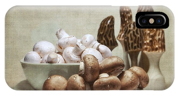 Wood Carving iPhone Case - Mushrooms And Carvings by Tom Mc Nemar