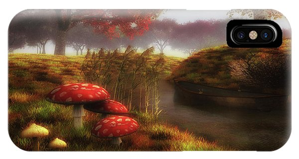 Mushrooms And River IPhone Case