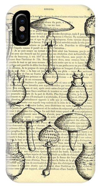 Kitchen iPhone Case - Mushrooms Art For Kitchen Decor by Madame Memento