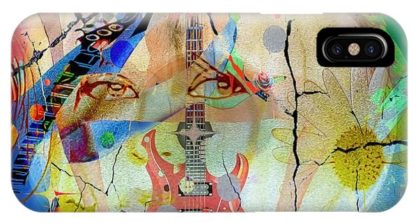IPhone Case featuring the digital art Music Girl by Eleni Mac Synodinos