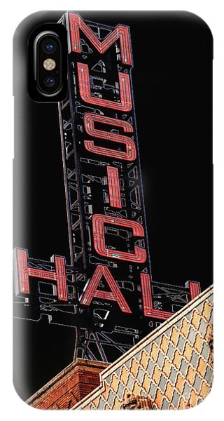 Music Hall Sign IPhone Case