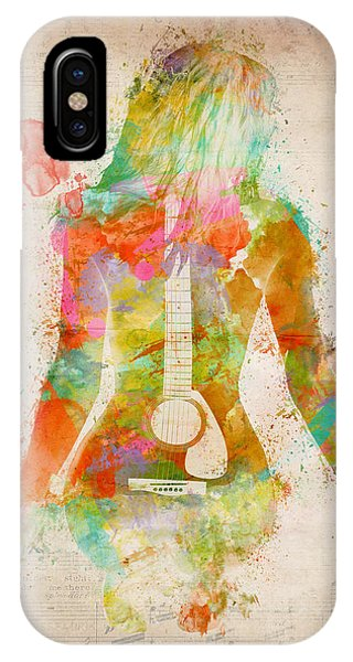 Rock And Roll Art iPhone Case - Music Was My First Love by Nikki Marie Smith